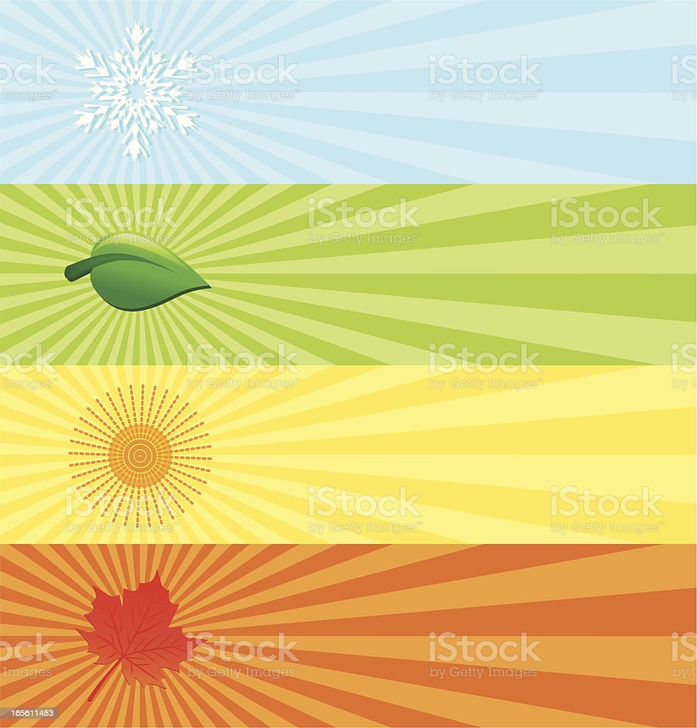 Seasonal banners . royalty-free stock vector art