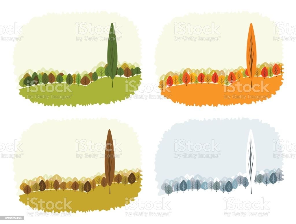 Seasonal banners royalty-free stock vector art