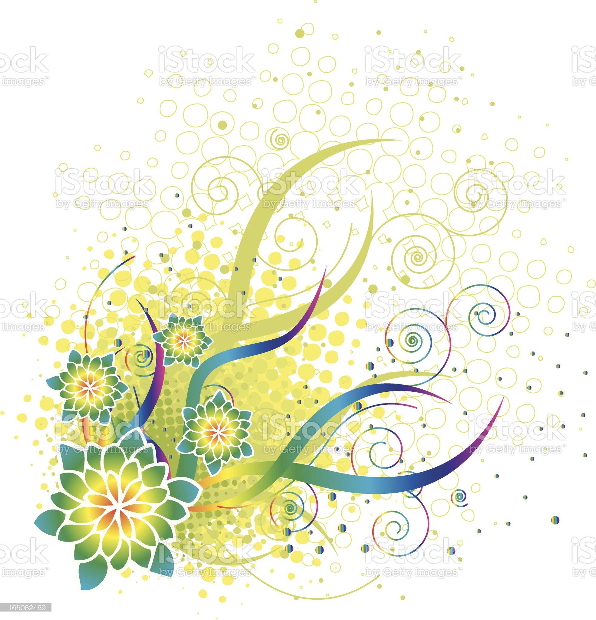 Seasonal Floral design royalty-free stock vector art