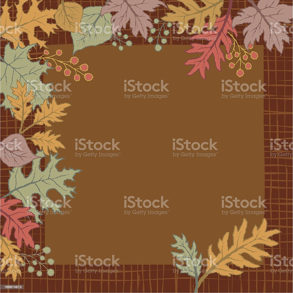 Seasonal Leaf Background royalty-free stock vector art