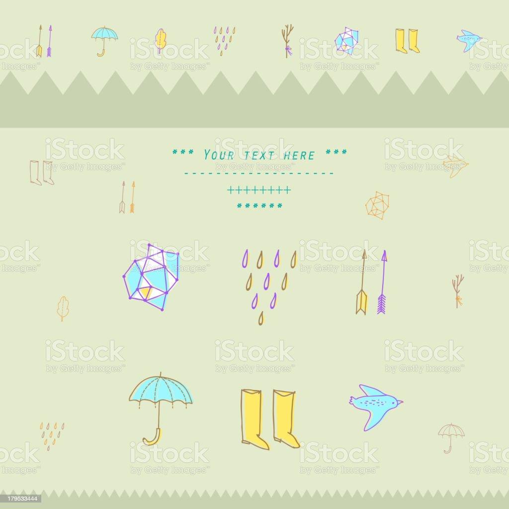 Seasonal  pattern royalty-free stock vector art