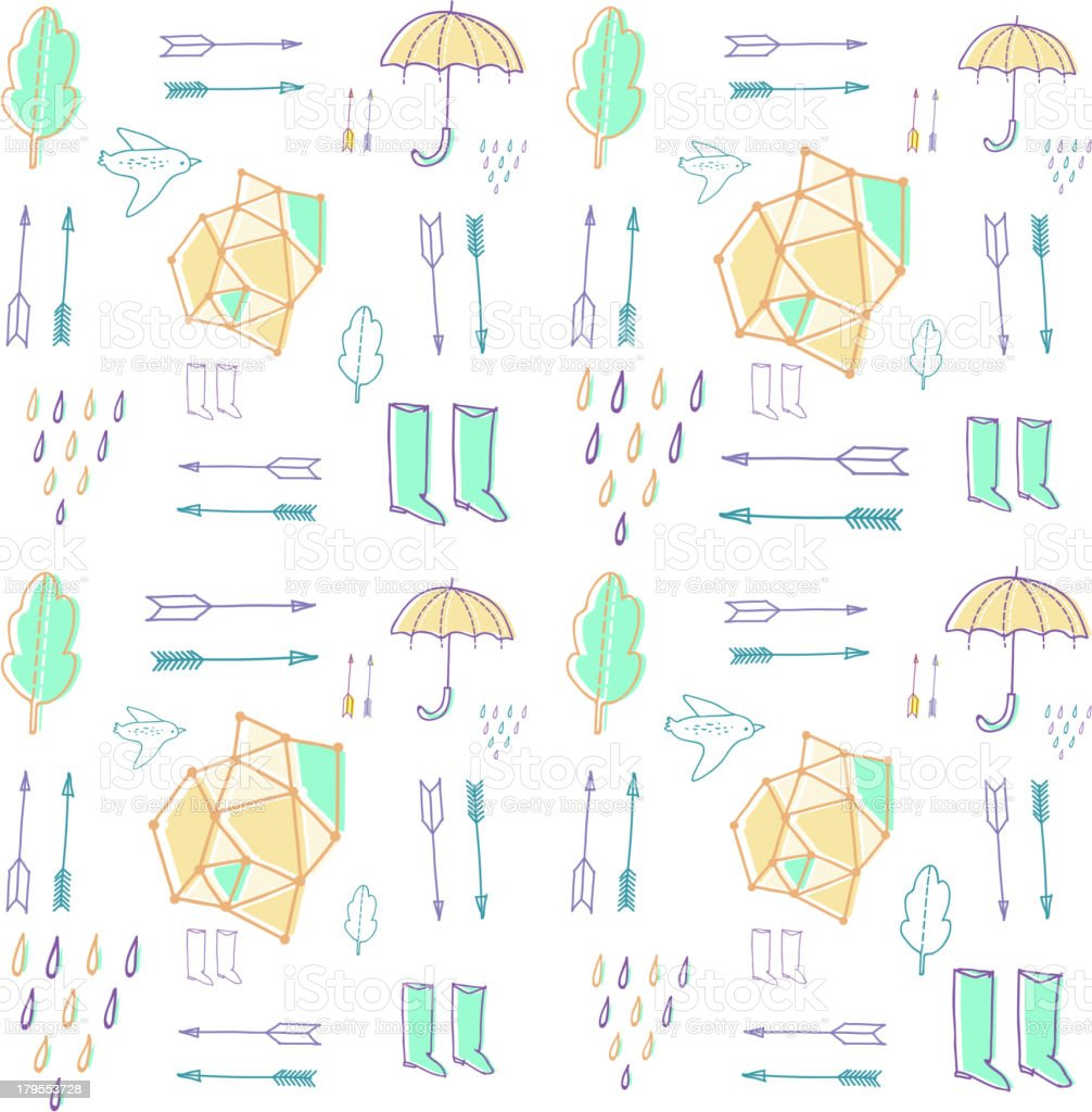 Seasonal  seamless pattern royalty-free stock vector art