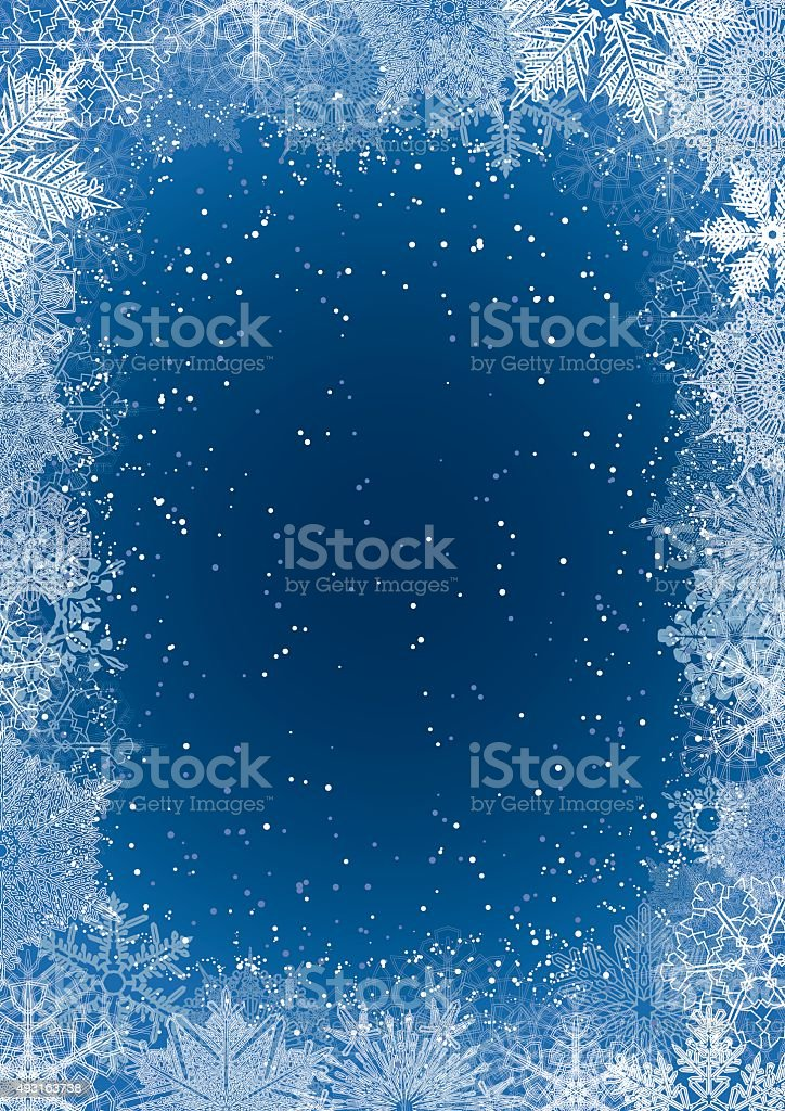 Seasonal snowflake background vector art illustration