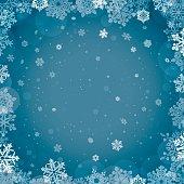 Seasonal square winter background