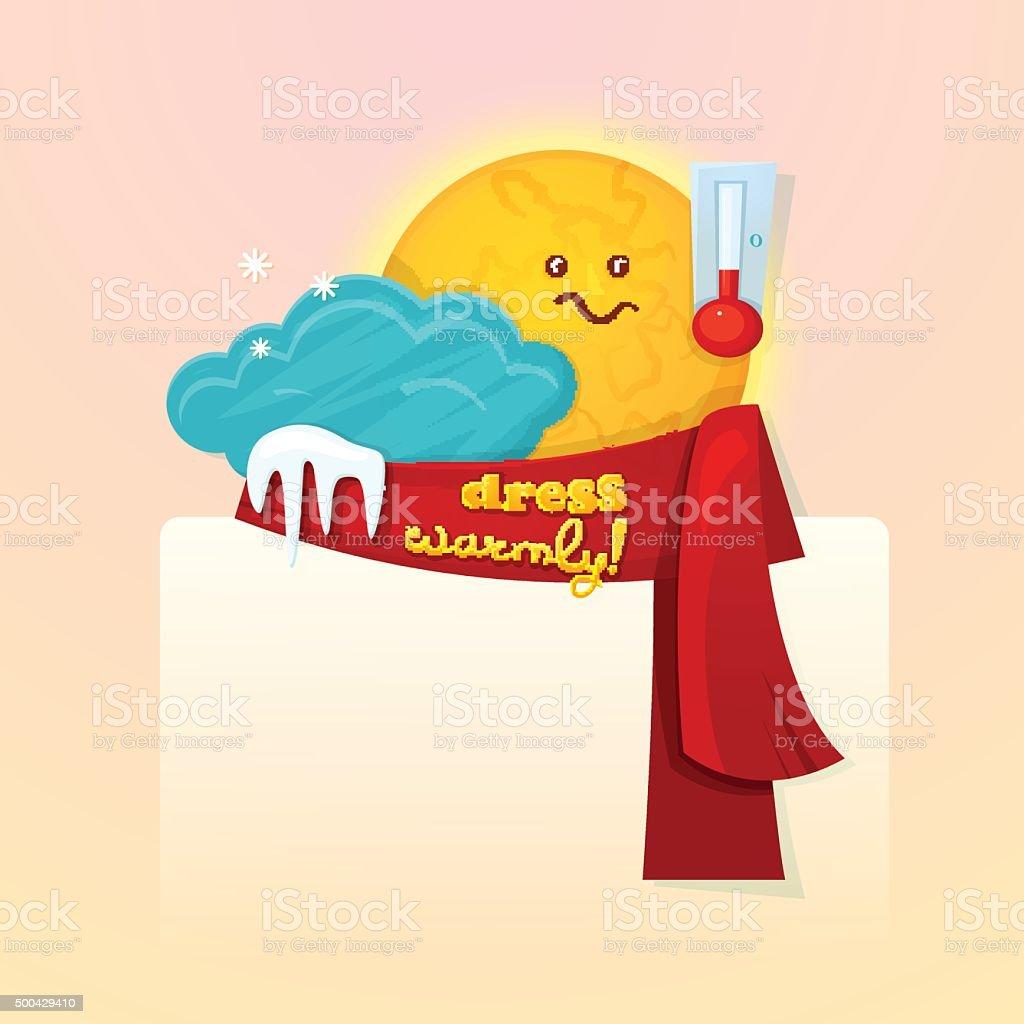 Seasonal weather changes, vector illustration vector art illustration