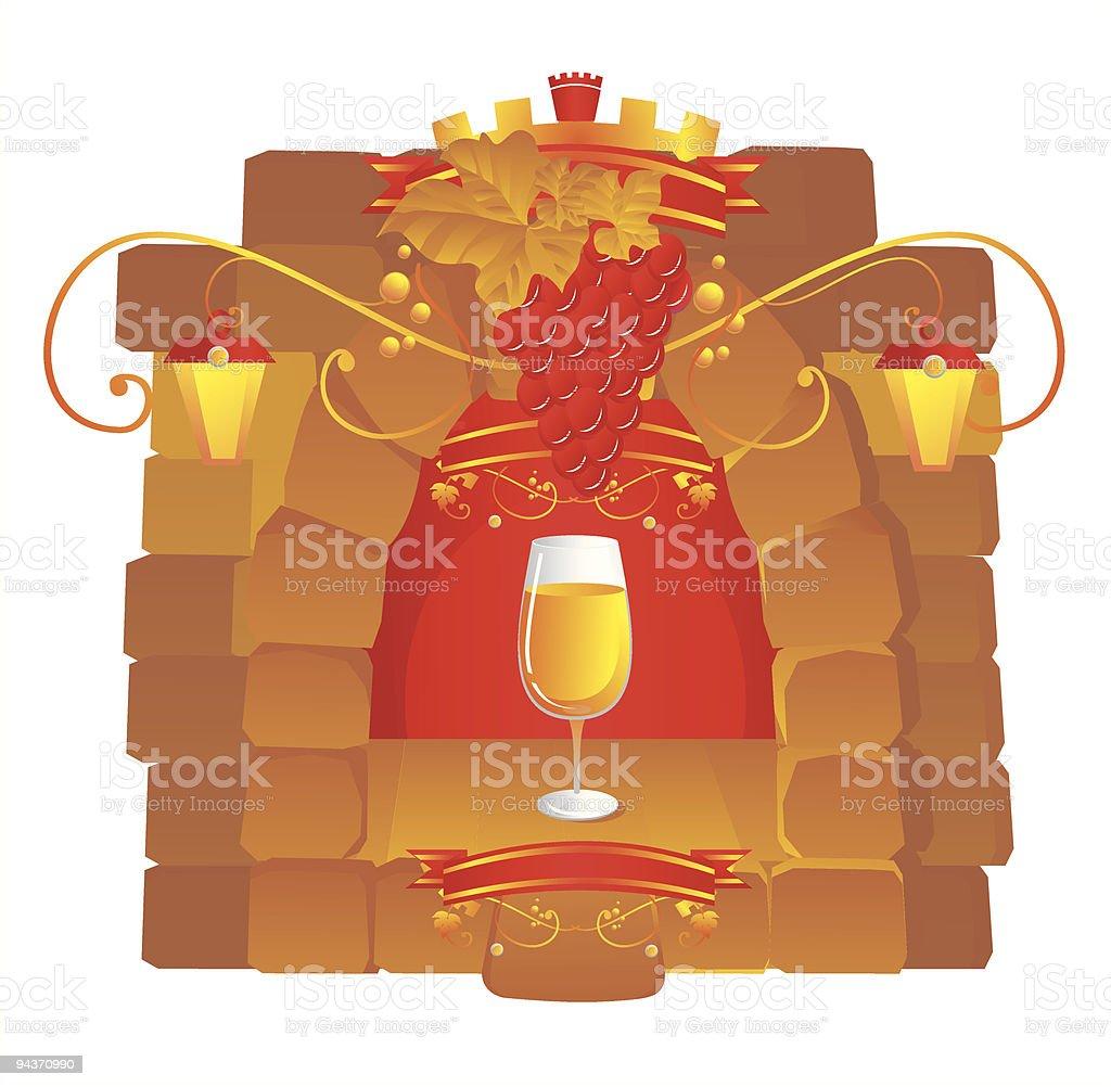 seasoned wine royalty-free stock vector art