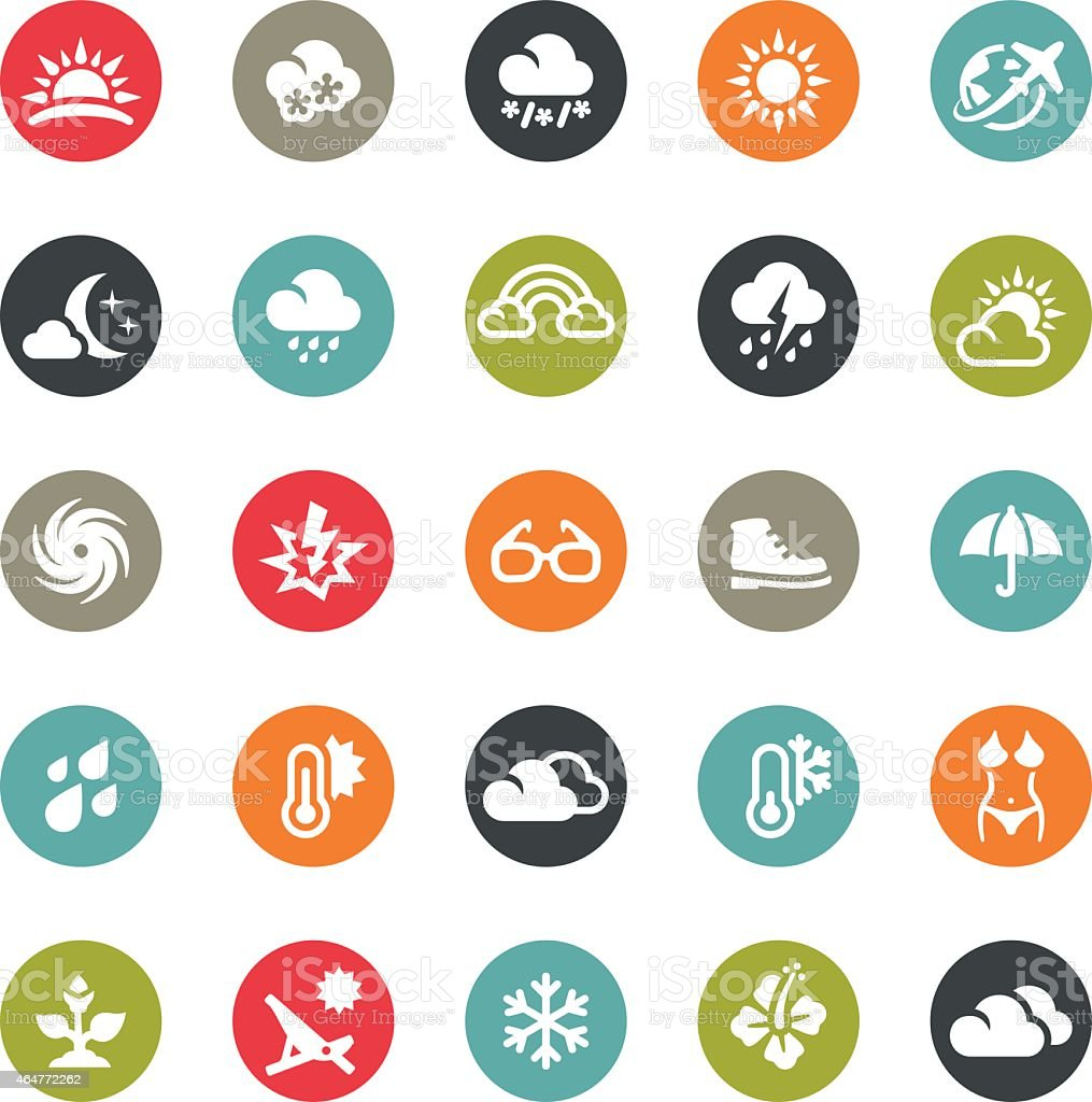 Seasons and Weather icons / Ringico series vector art illustration