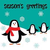 seasons greetings penguins