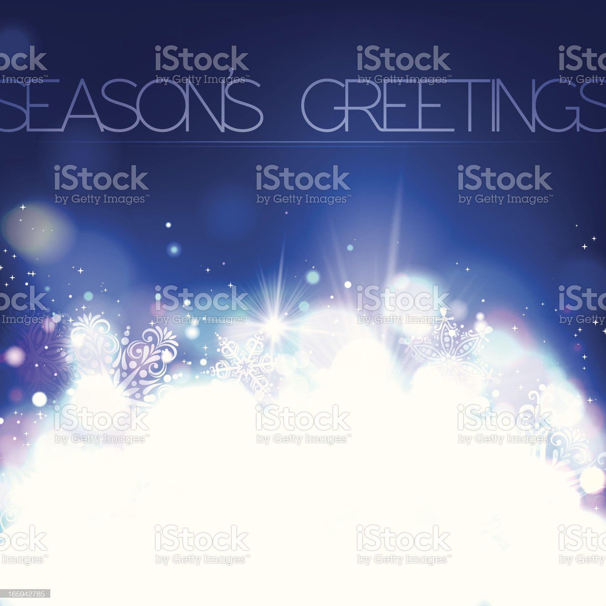 Season's greetings white sparkle graphic royalty-free stock vector art