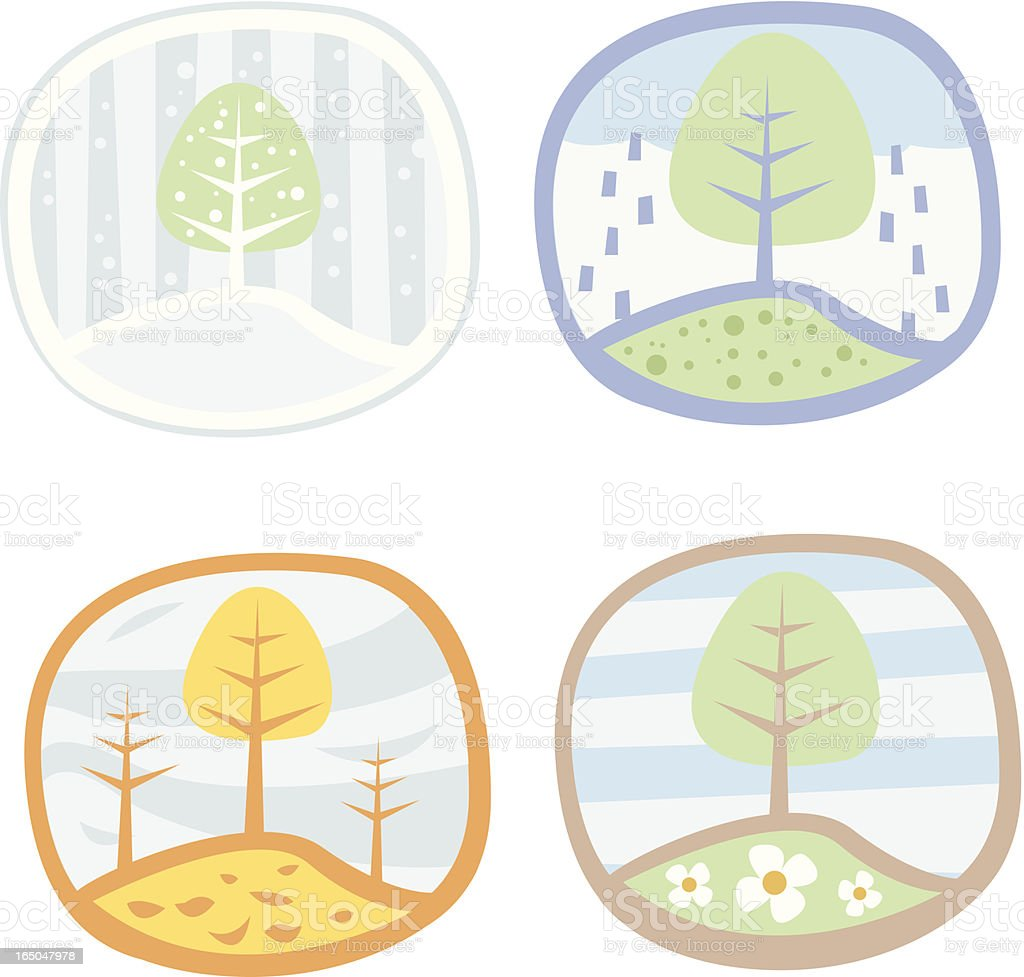 seasons royalty-free stock vector art