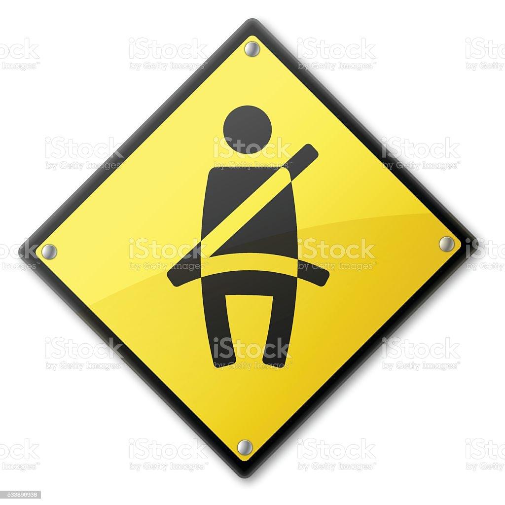 Seat Belt Sign vector art illustration