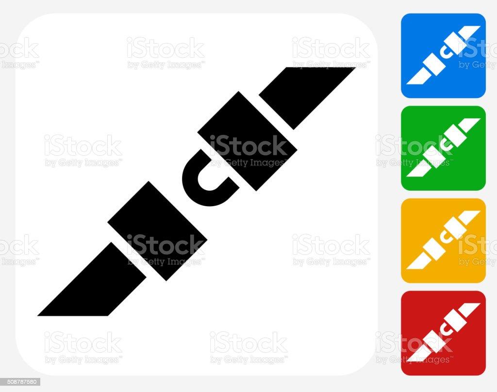 Seatbelts Icon Flat Graphic Design vector art illustration