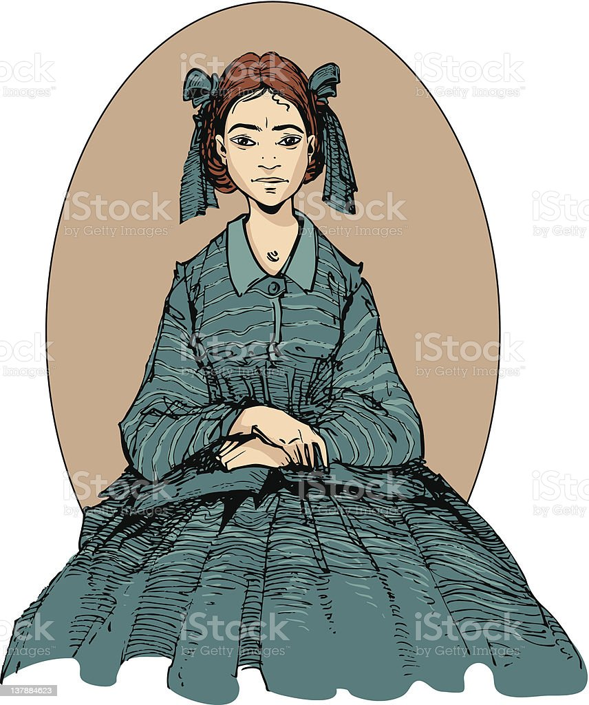 Seated Girl stock photo