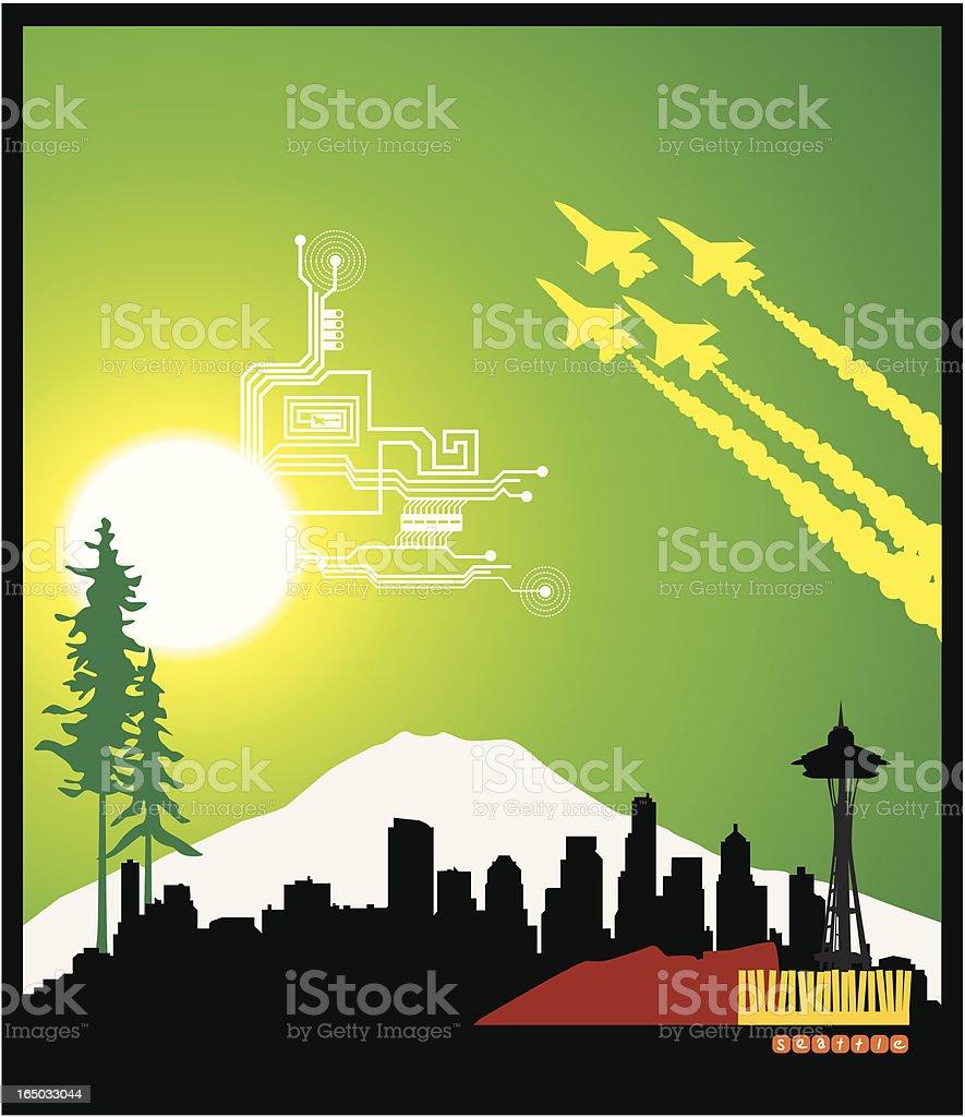 Seattle Skyline ( Vector ) royalty-free stock vector art