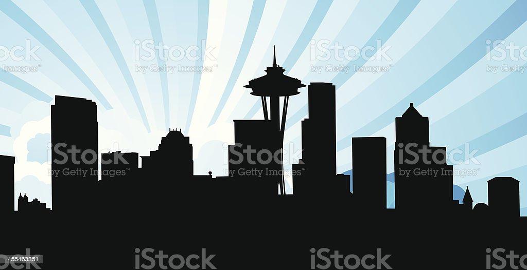 Seattle Skyline royalty-free stock vector art