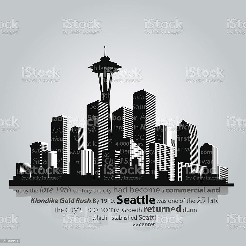 Seattle vector art illustration