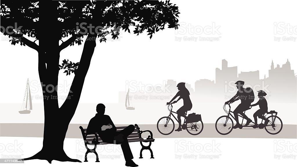 Seawall Park vector art illustration