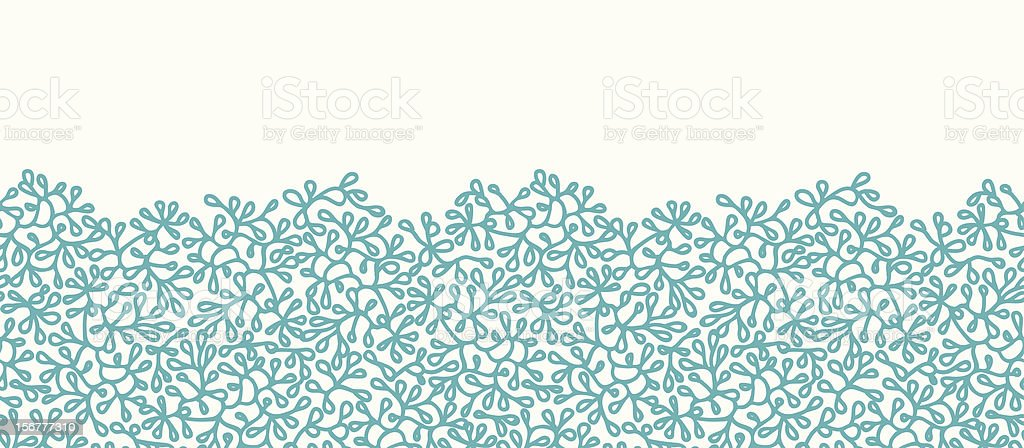 Seaweed Texture Horizontal Seamless Pattern Border vector art illustration