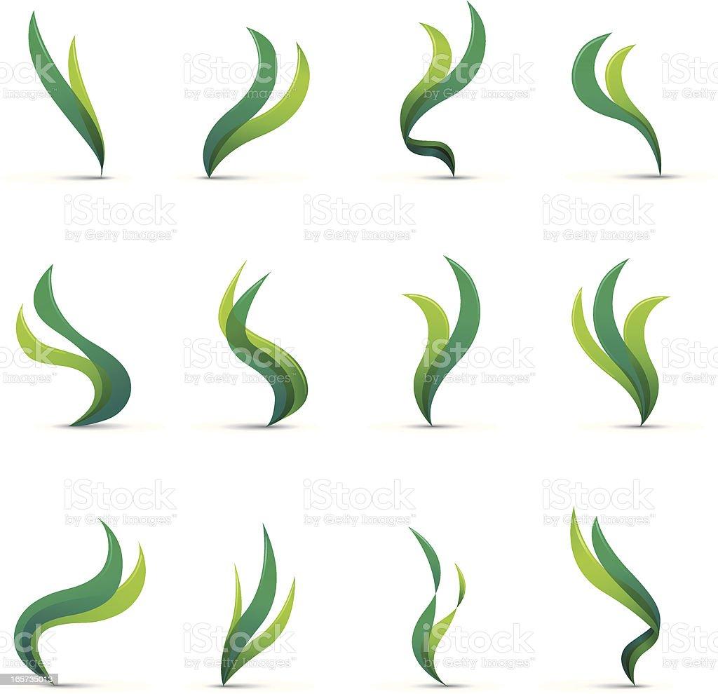 Seaweed vector art illustration