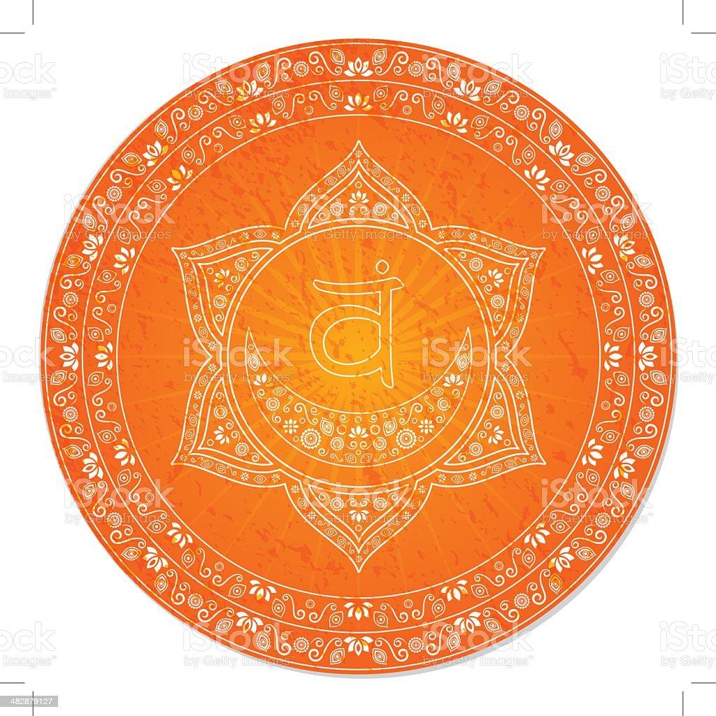 Second Chakra Decorative royalty-free stock vector art