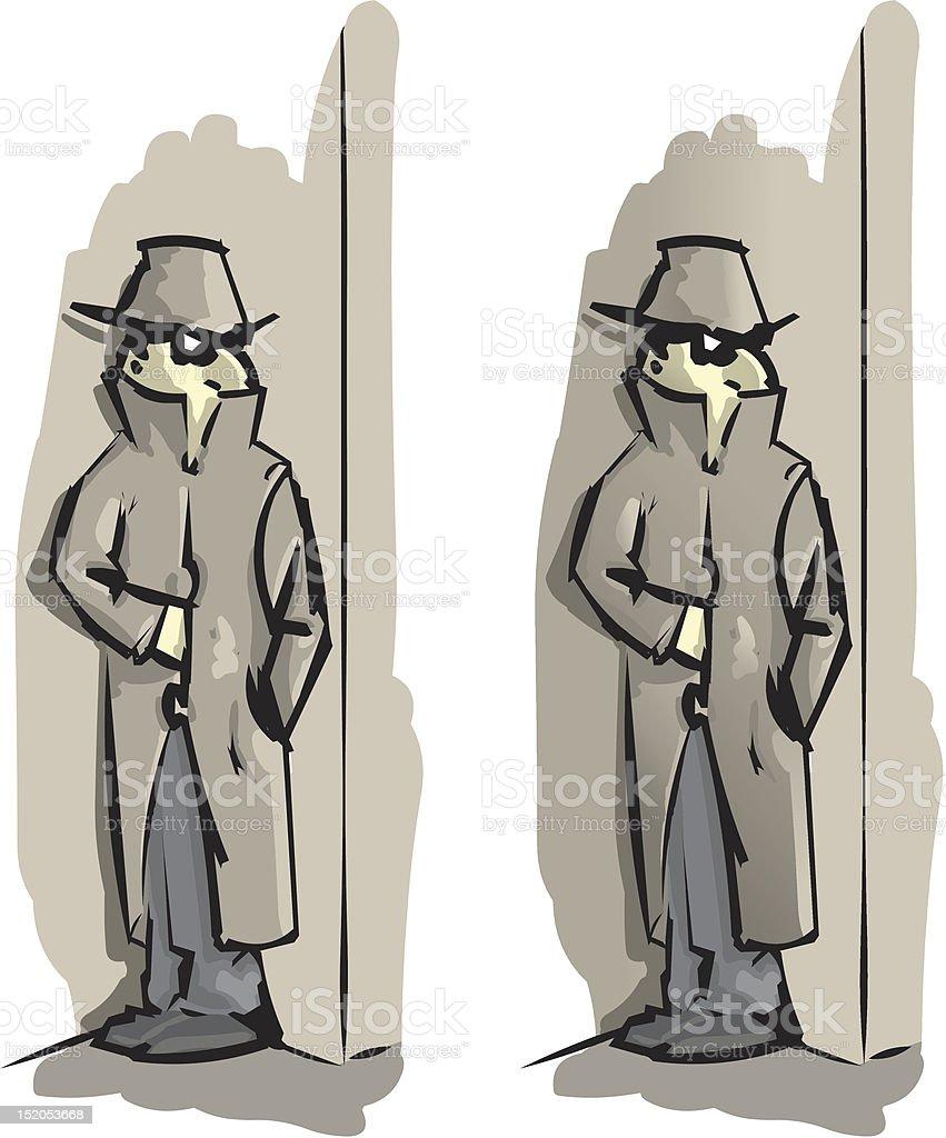 secret agent royalty-free stock vector art