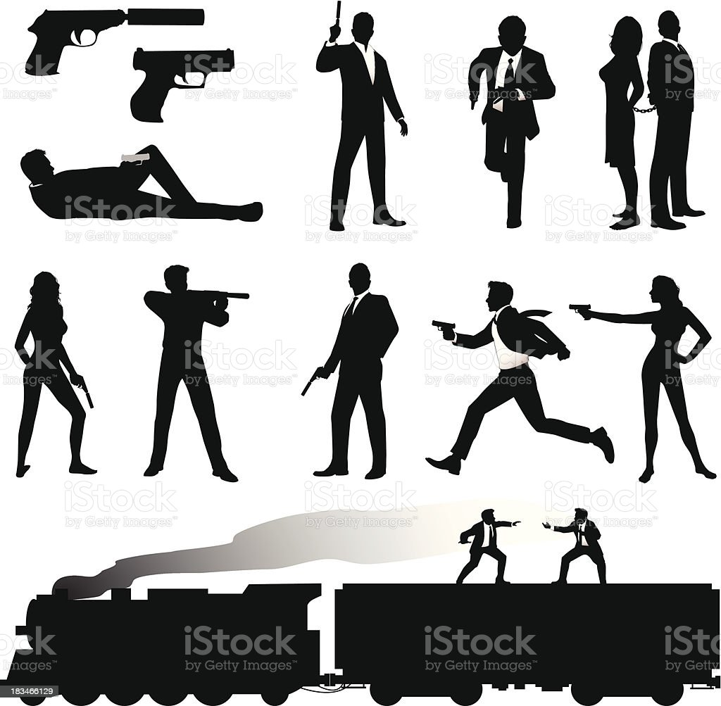 Secret Agent vector art illustration