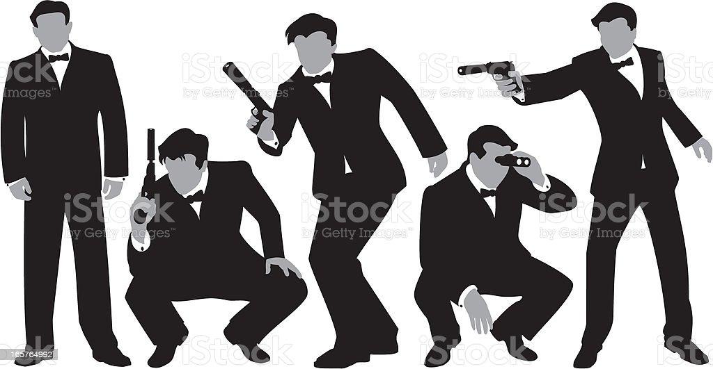Secret Agents royalty-free stock vector art