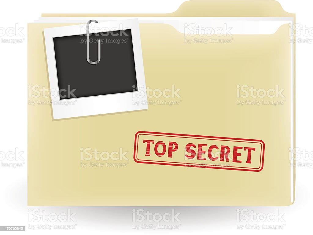 secret file vector art illustration