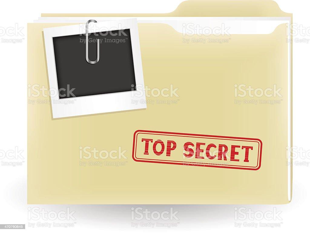 secret file vector art illustration