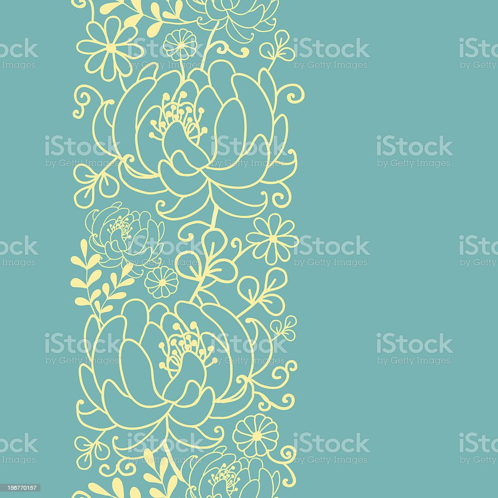 Secret garden kimono oriental vertical seamless pattern royalty-free stock vector art