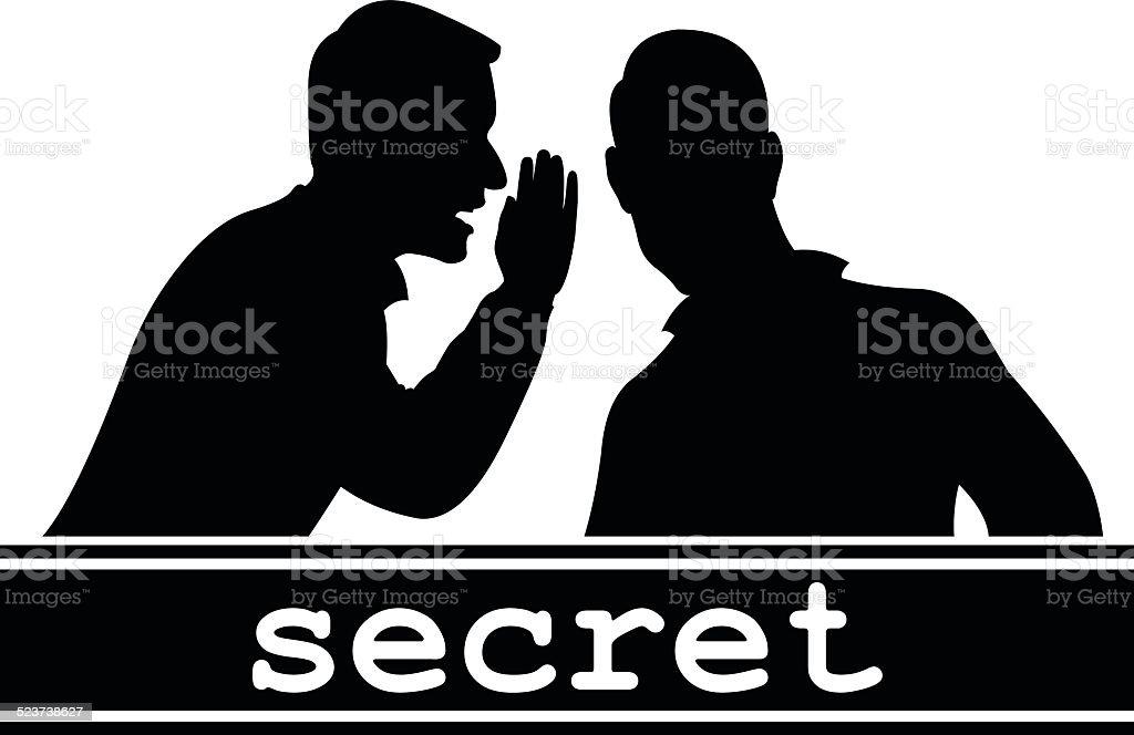 Secret vector art illustration
