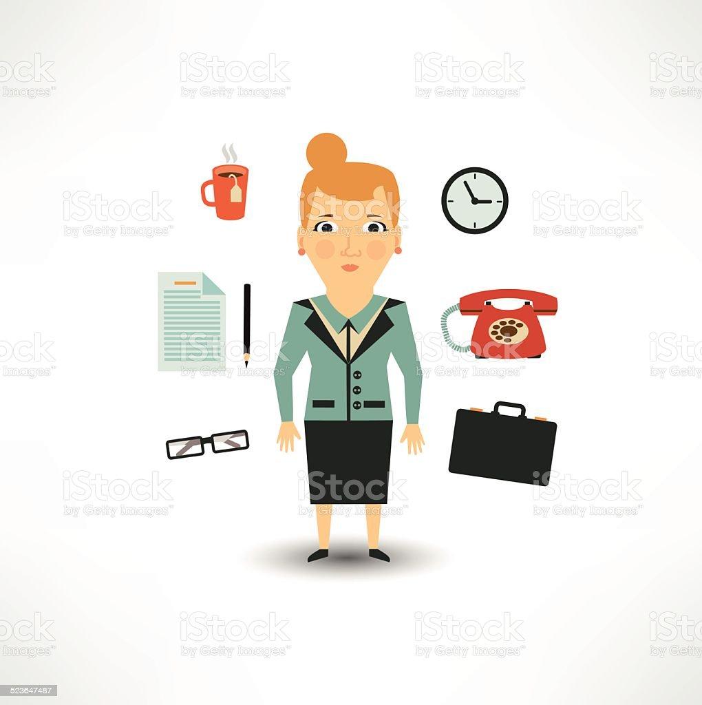 secretary vector art illustration