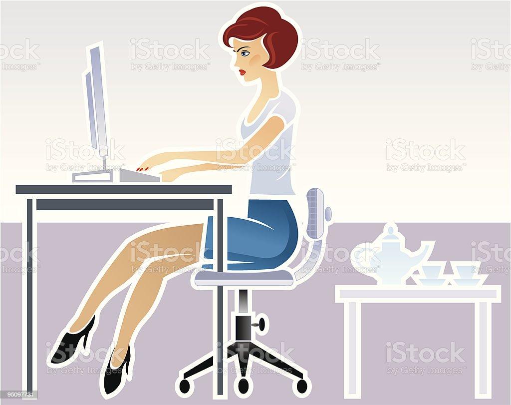 secretary royalty-free stock vector art