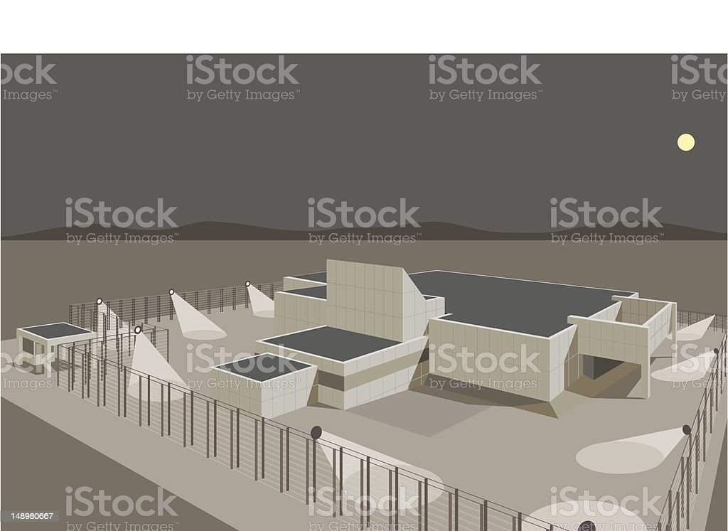 Secure Building royalty-free stock vector art