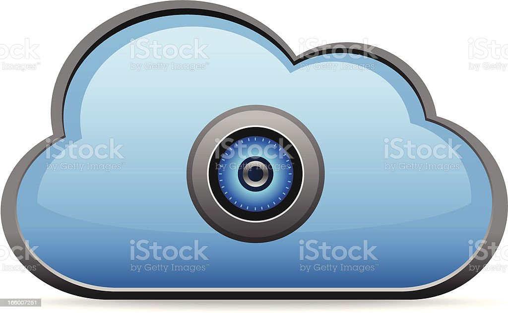 Secure Cloud Computing Concept royalty-free stock vector art