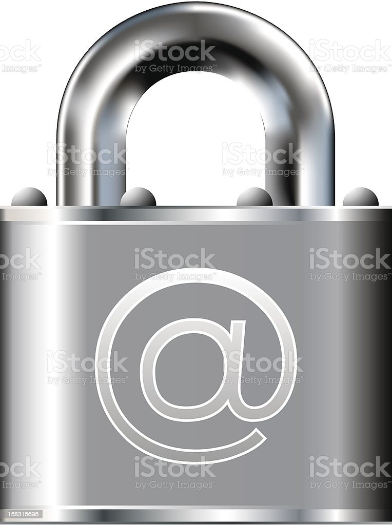 Secure e-mail vector icon vector art illustration