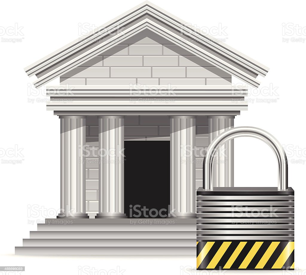 Secure Finance royalty-free stock vector art