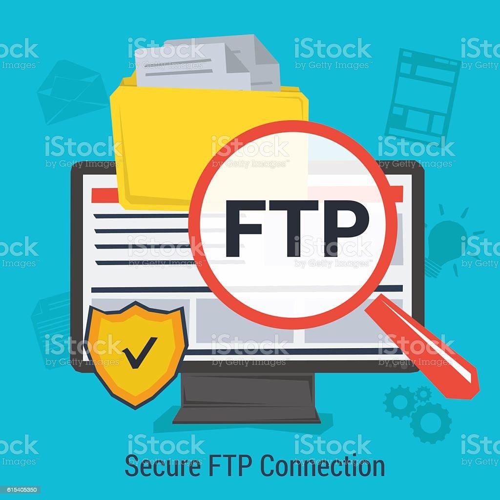Secure FTP Clip Art