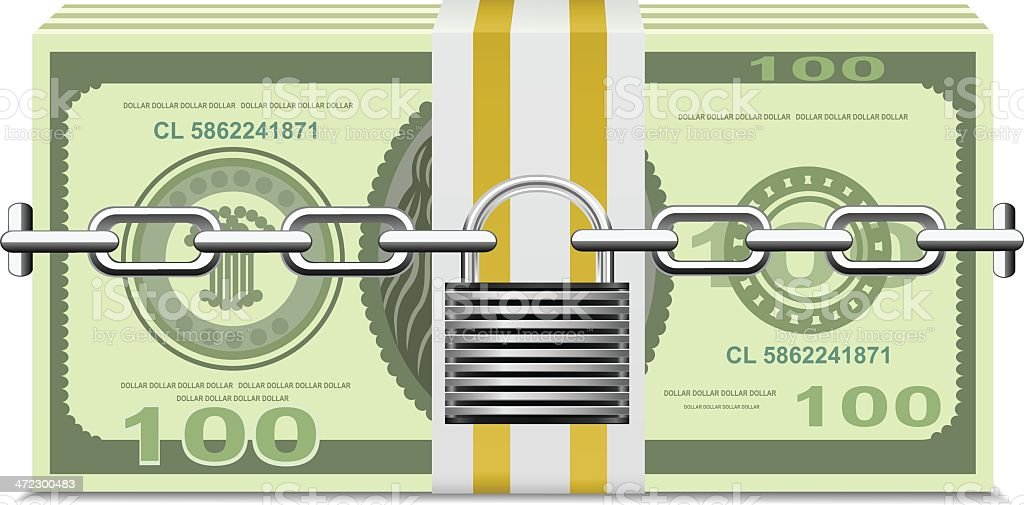 Secure Money royalty-free stock vector art