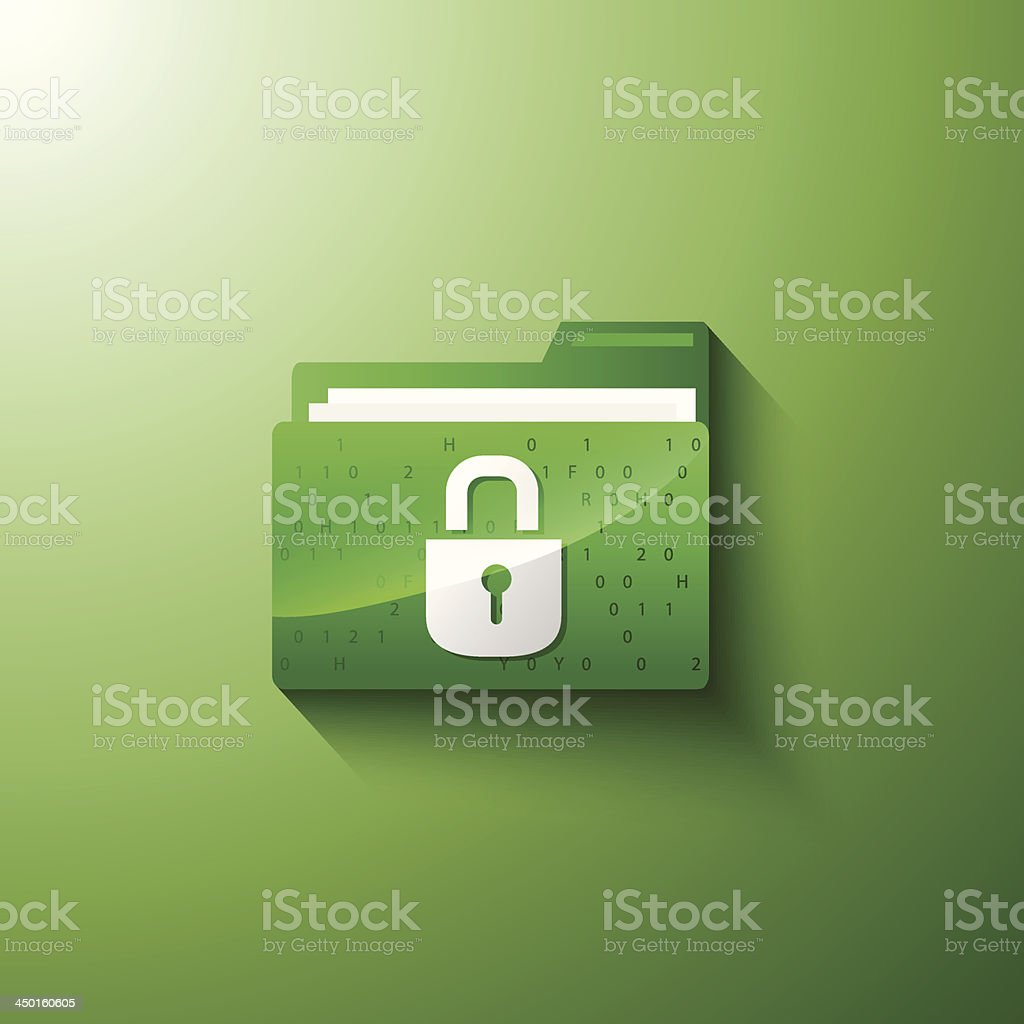 secure privacy folder royalty-free stock vector art