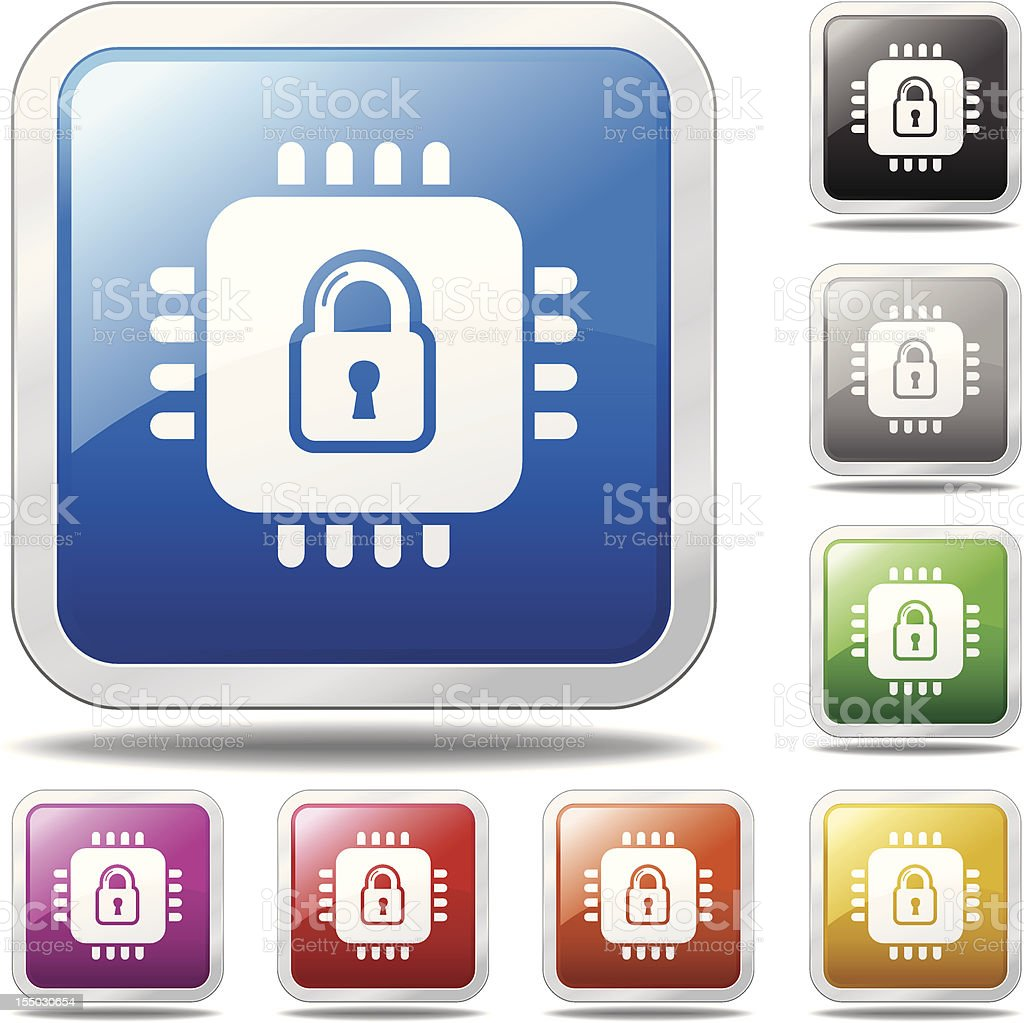 Secure Technology Icon royalty-free stock vector art