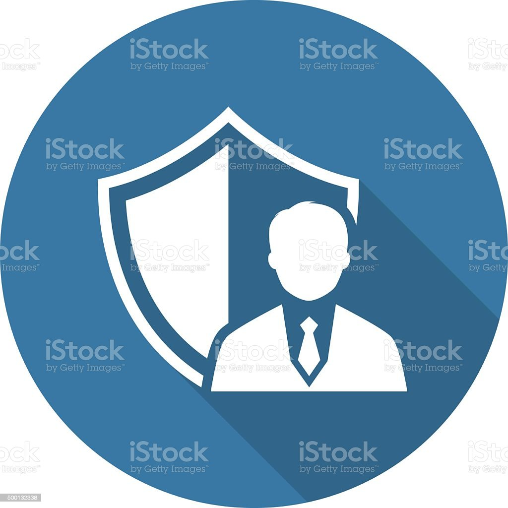 Security Agency Icon. Flat Design. vector art illustration