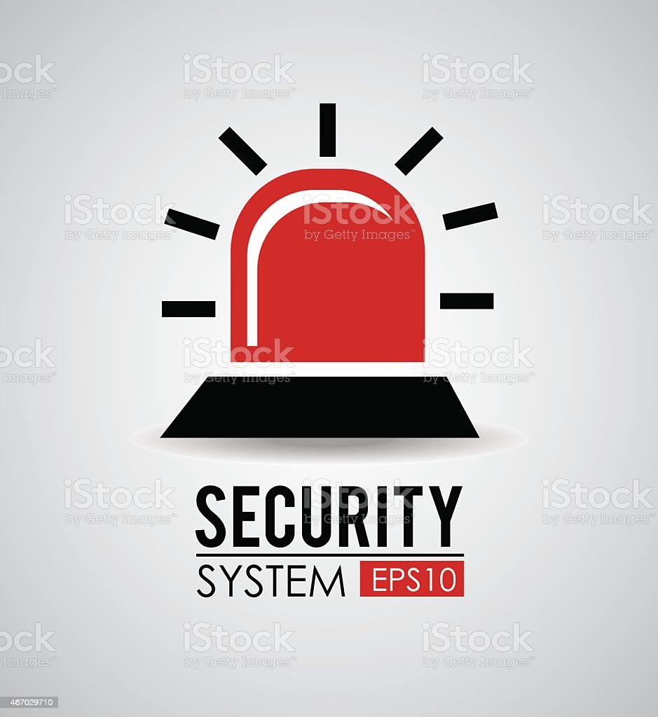 Security alarm design, vector illustration vector art illustration