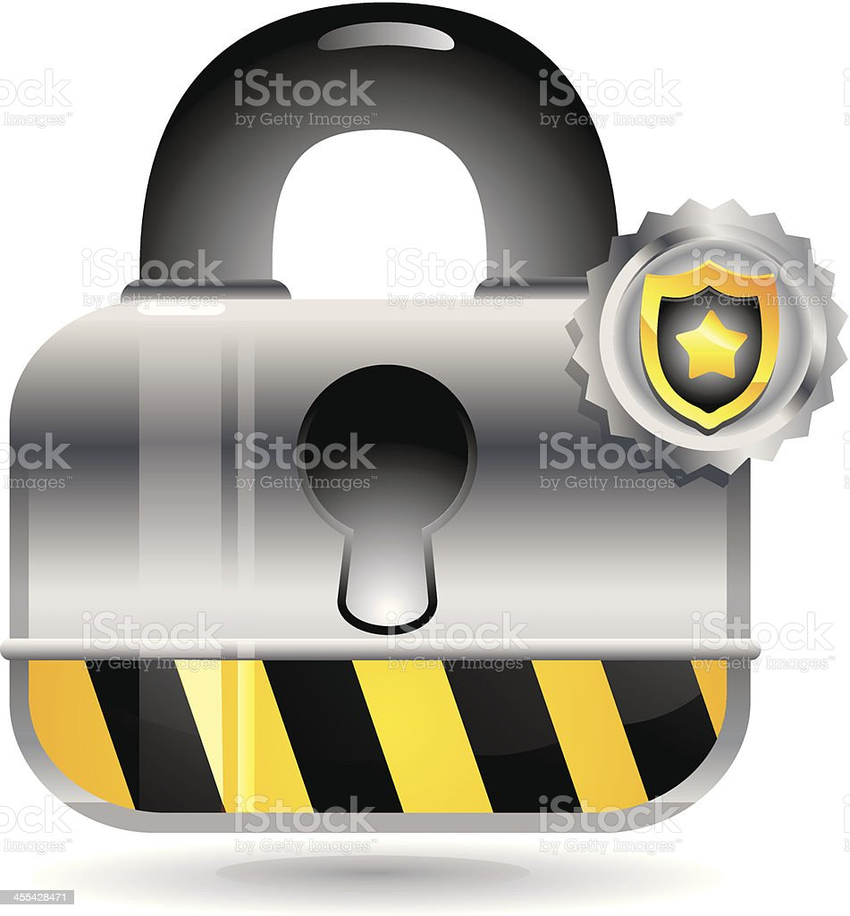 Security and Padlock icon royalty-free stock vector art