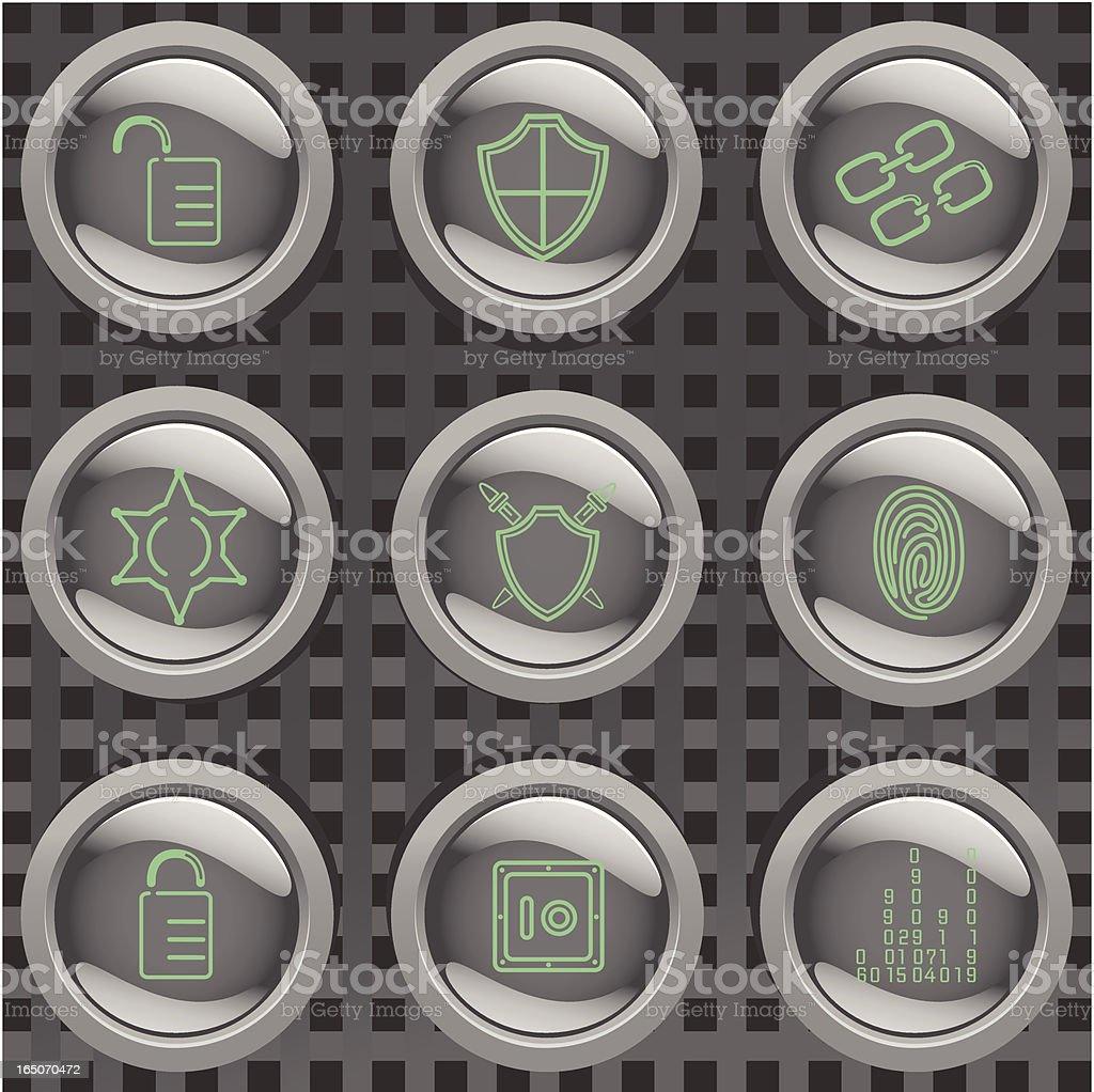 Security Badges vector art illustration