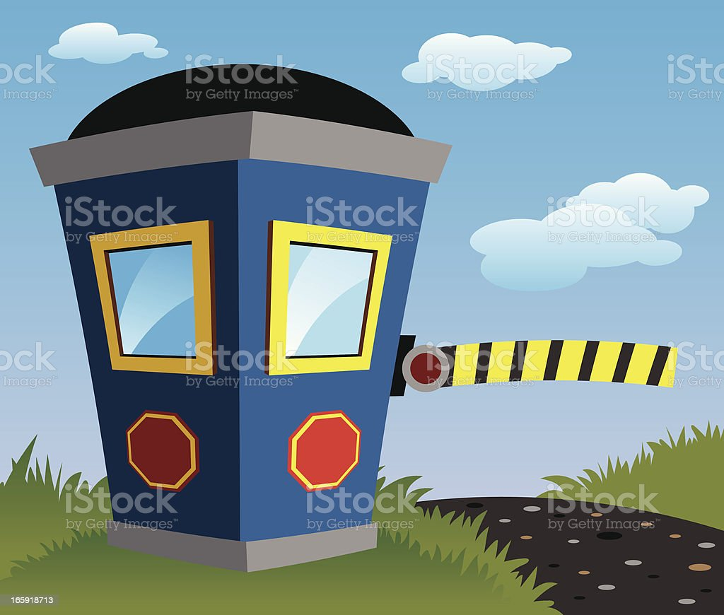 Security Booth vector art illustration