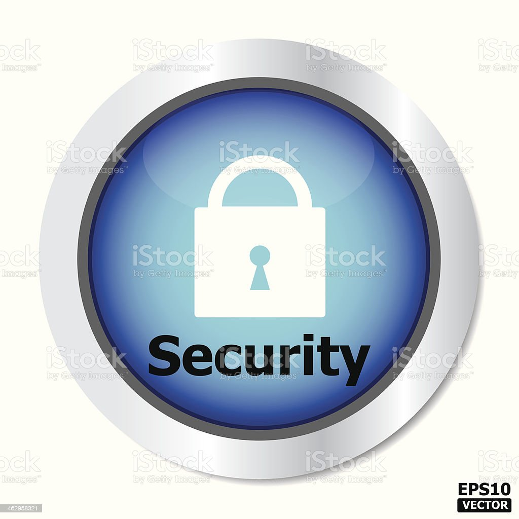Security button. royalty-free stock vector art