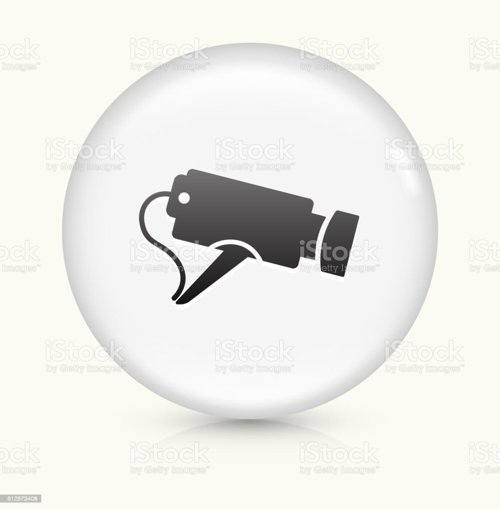 Security Camera icon on white round vector button vector art illustration