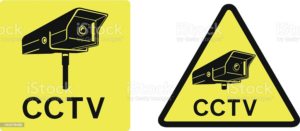 CCTV Security Camera Signs royalty-free stock vector art