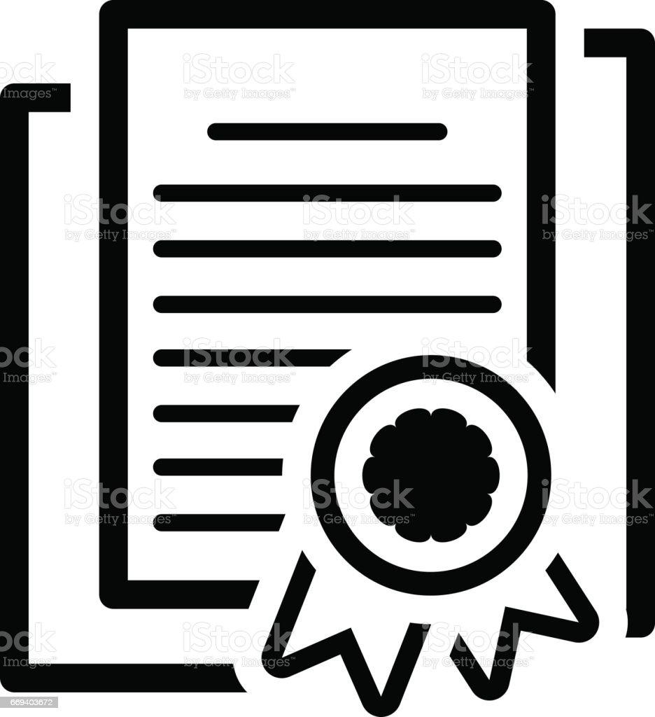 Security Certificates Icon. Flat Design vector art illustration